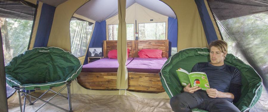 Tarkine camping yoga tasmania