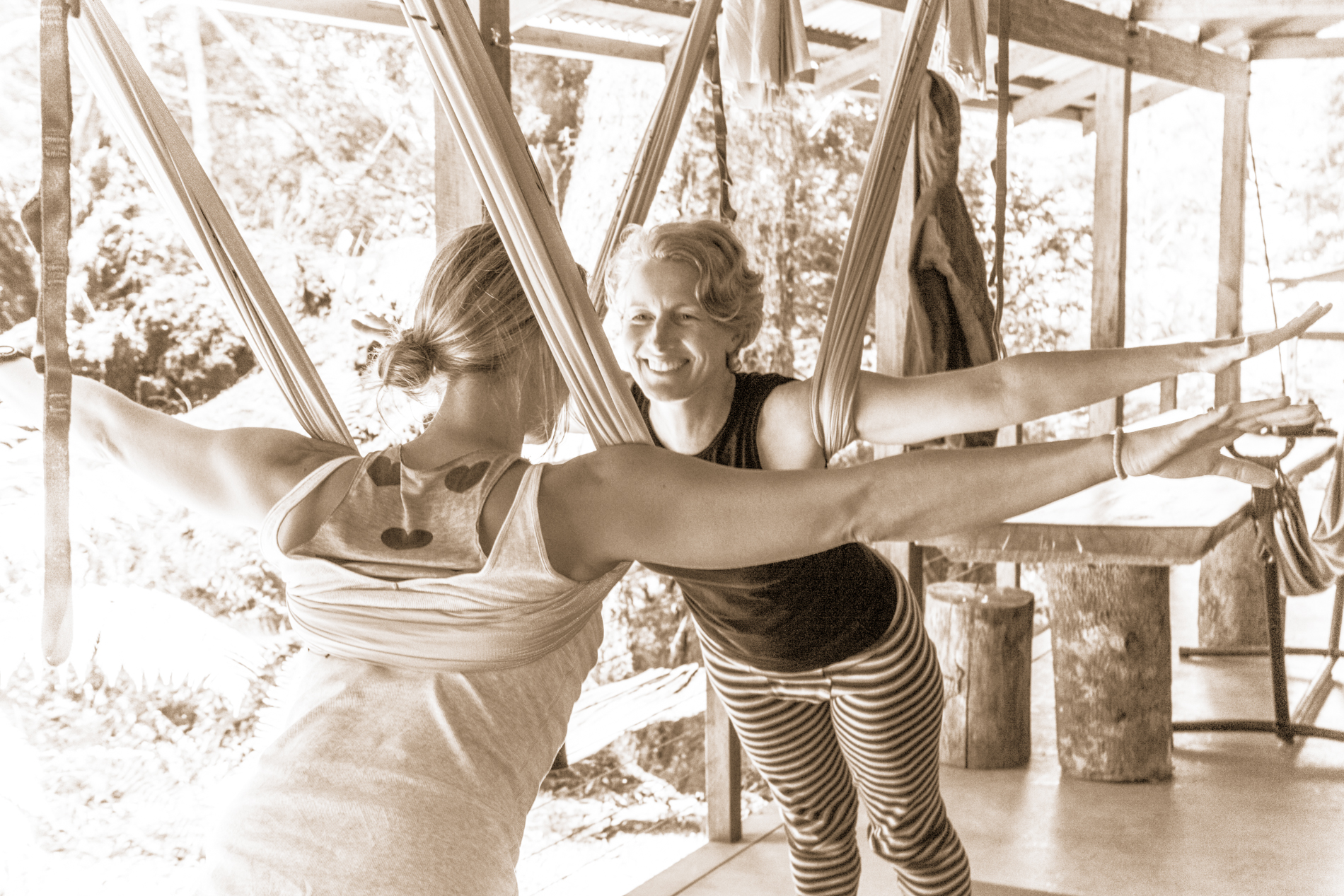 Yoga retreat tasmania - Tarkine Antigravity Loosen Up 9