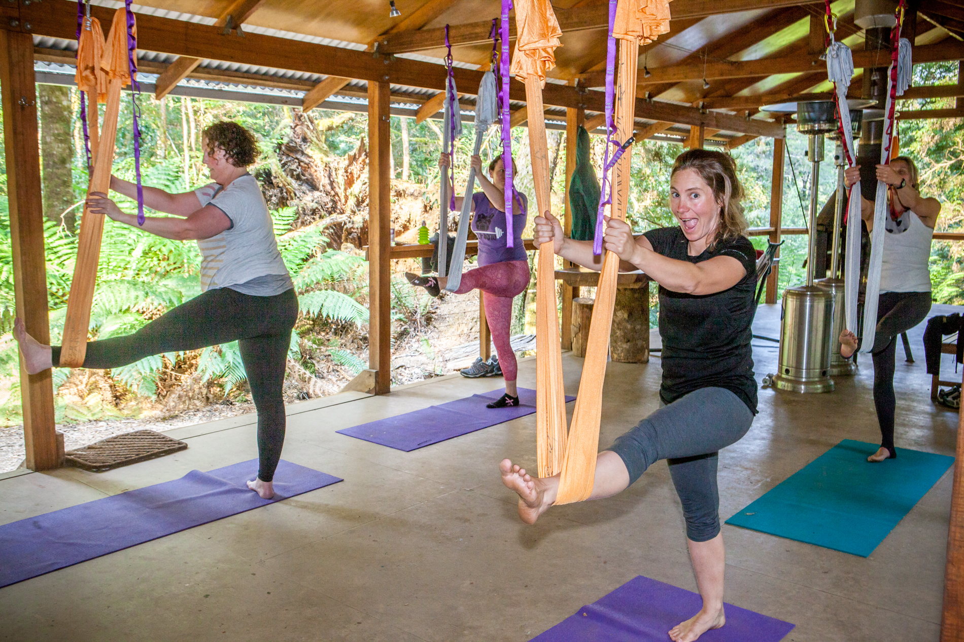 Yoga retreat Tasmania - Tarkine Antigravity Loosen Up 11